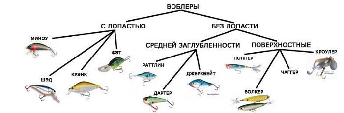Видывоблеров: тонущие, плавающие, суспендеры