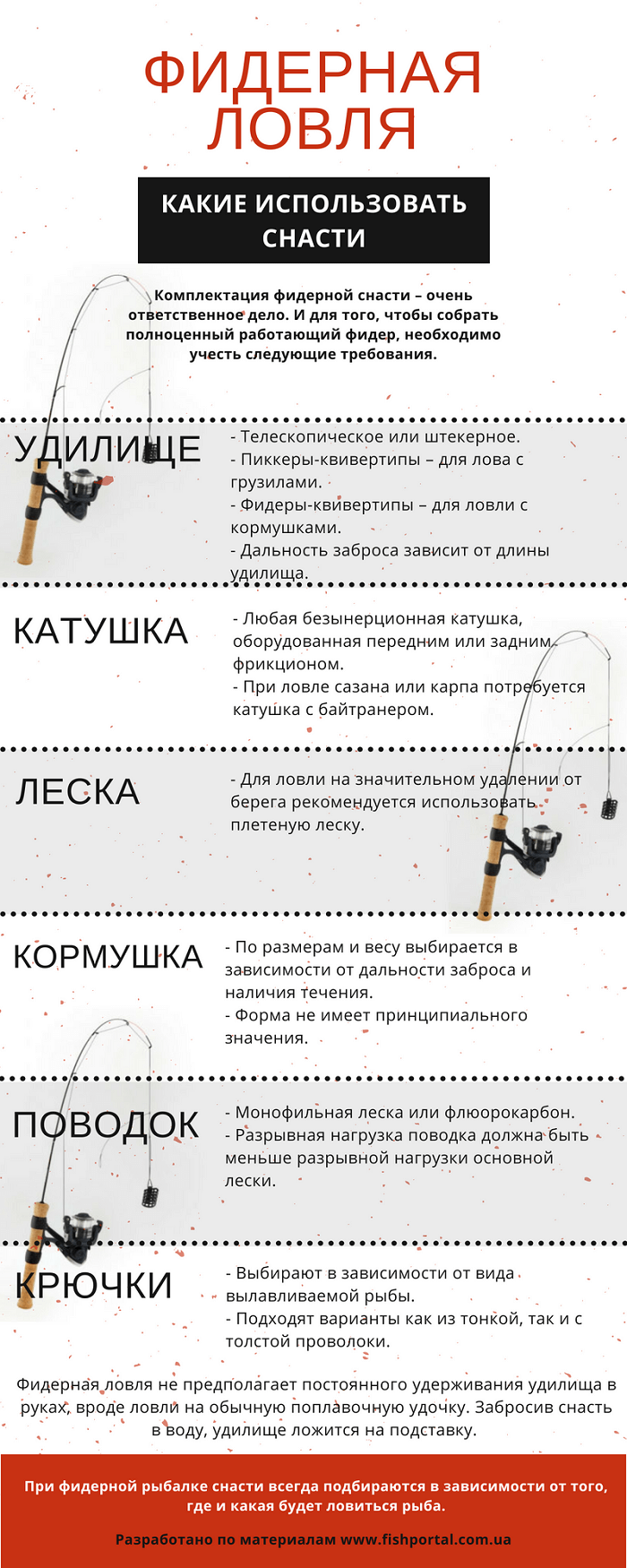 Фидерная снасть инфографика фото