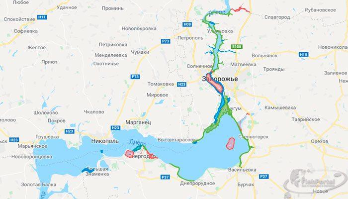 Зимовальные ямы Запорожской обл. 2018-2019